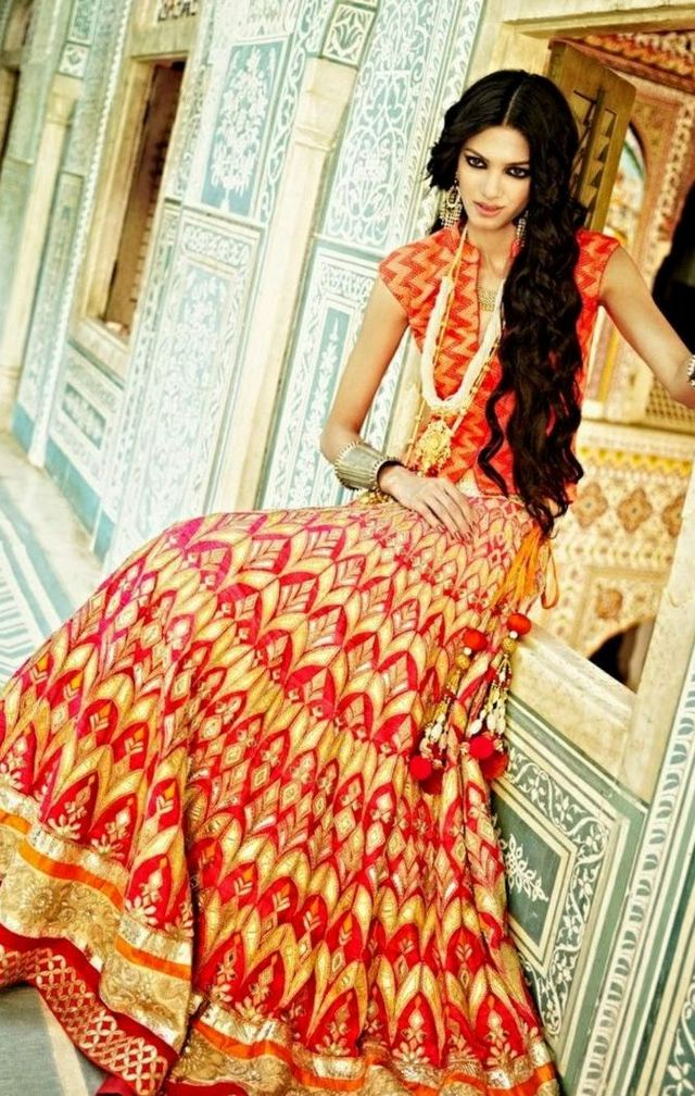 Blue Indian Wedding Dresses