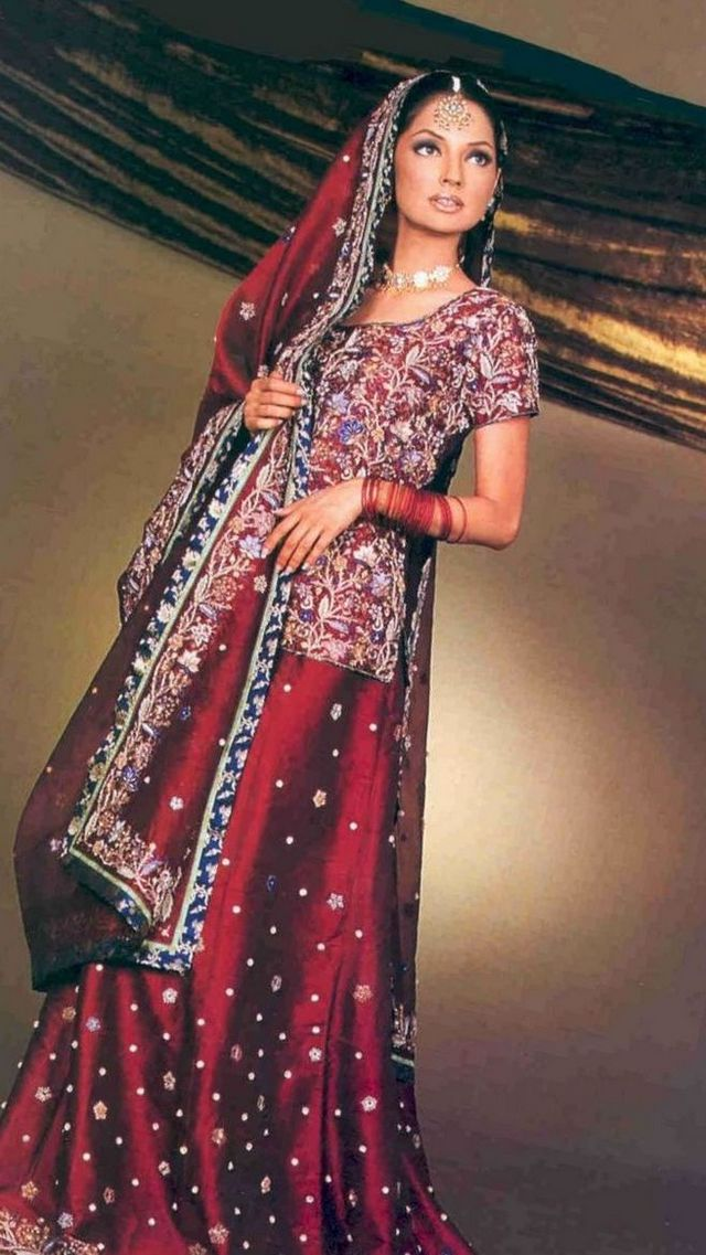 Simple Bridal Dresses Indian