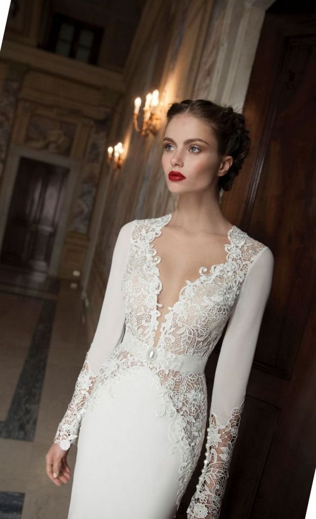 Simple Elegant Wedding Dresses With Sleeves