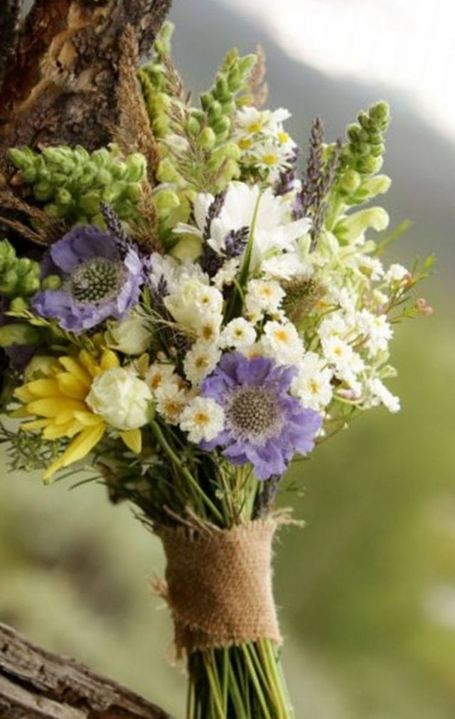 Wedding Bouquet of Wildflowers