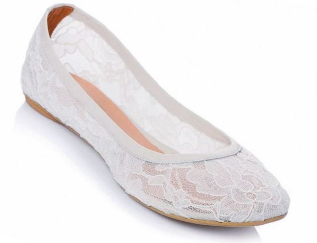 ballet flats wedding photo