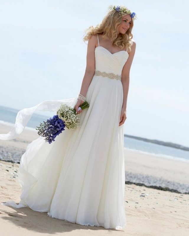 beach inspired wedding dresses