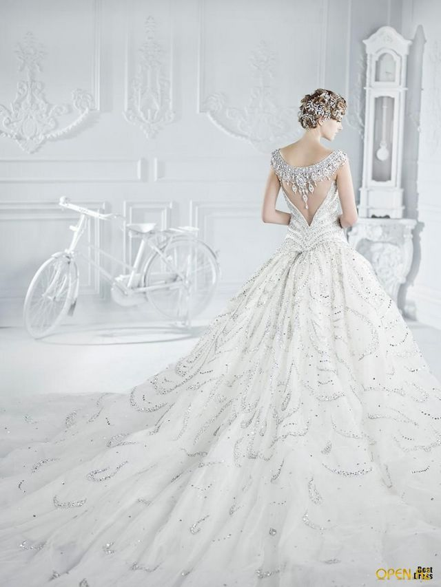 beautiful unique wedding dresses image