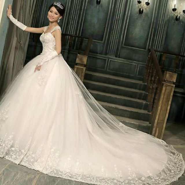 Beautiful Wedding Dresses With Long Trains