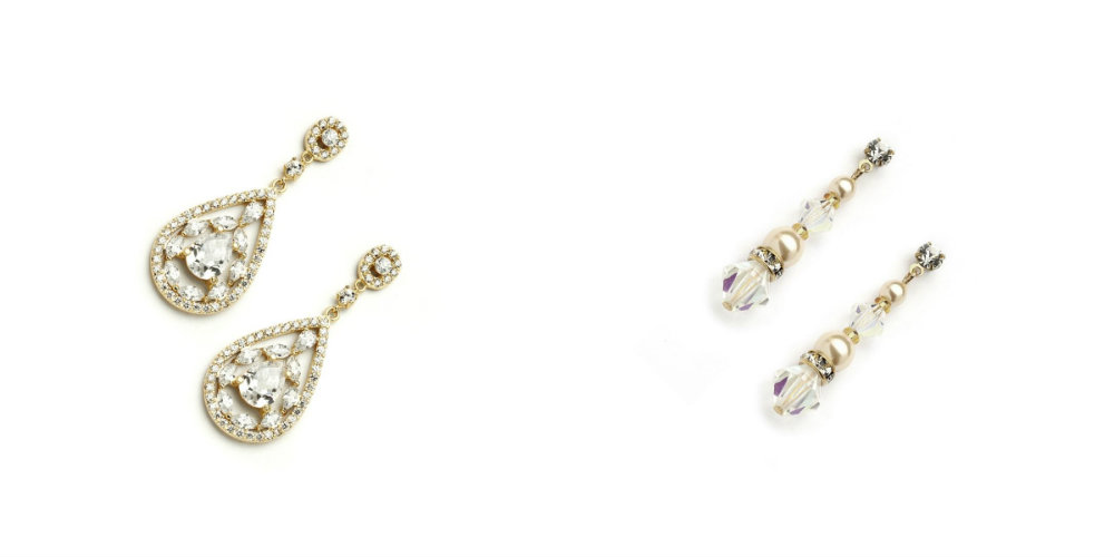 beautiful wedding earrings