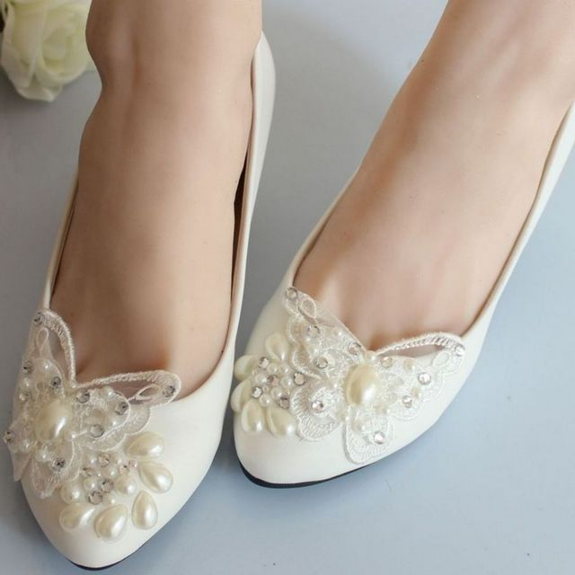 beautiful wedding shoes without heels