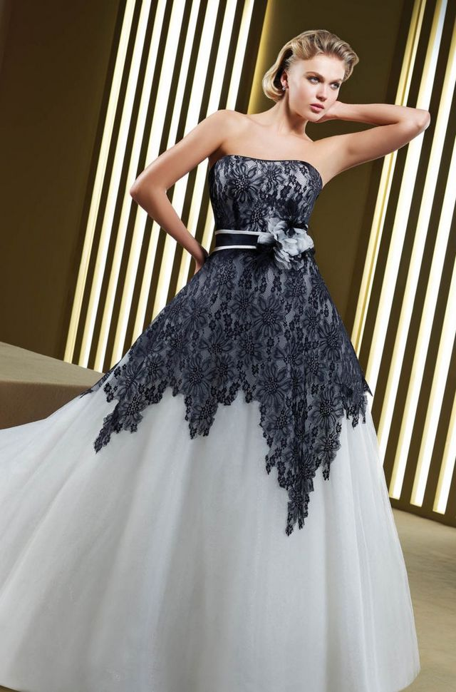 black and white dress for wedding