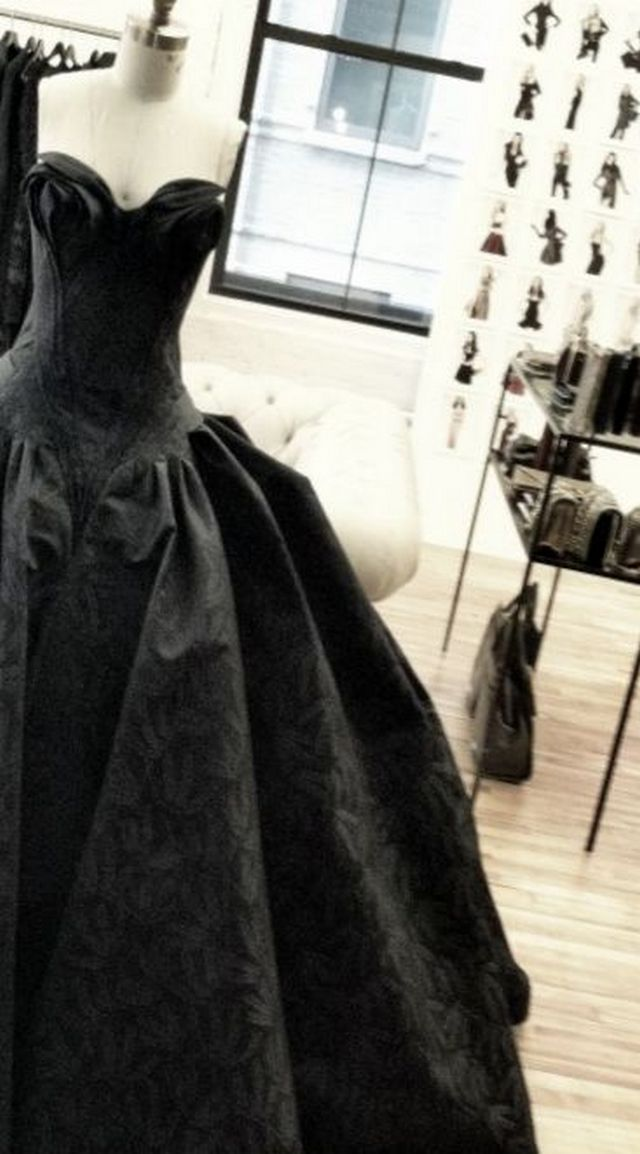 black bridal dress photo
