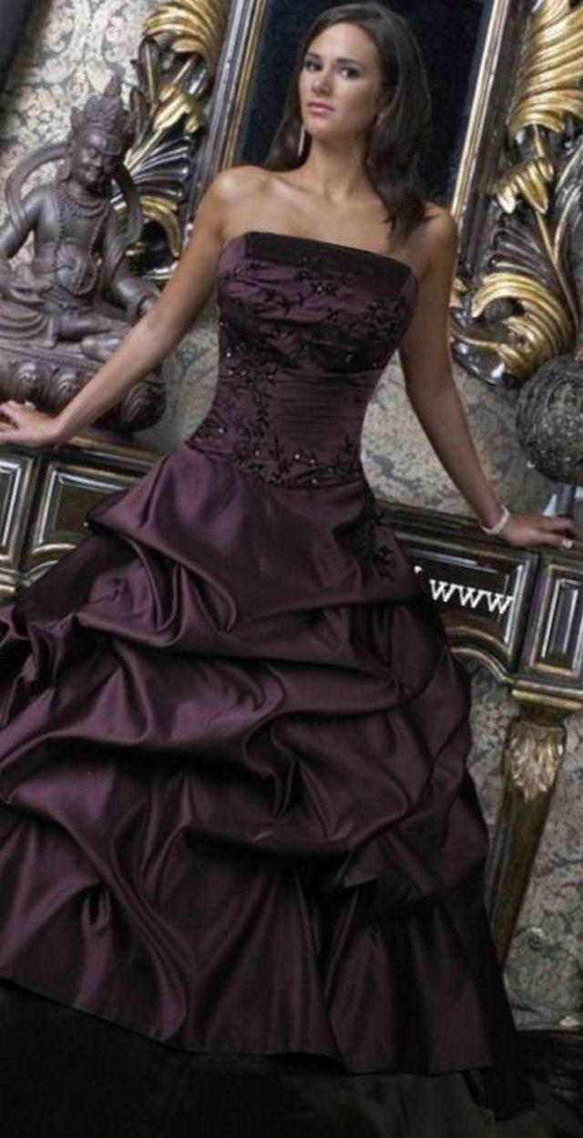 black wedding dress image