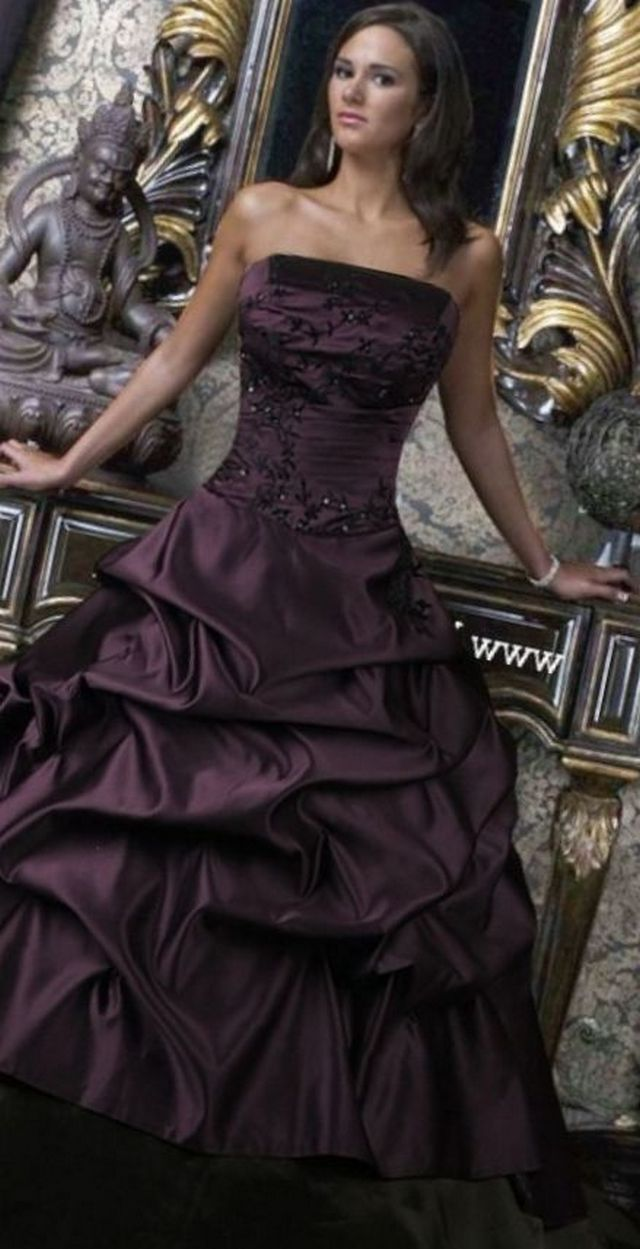 black wedding dress image