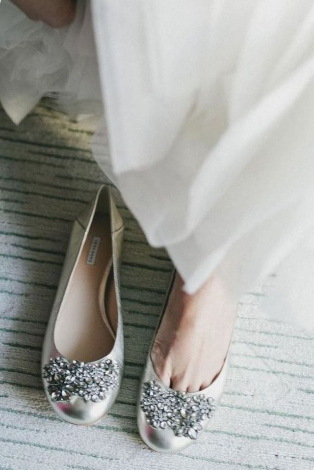 blue ballet flats wedding shoes