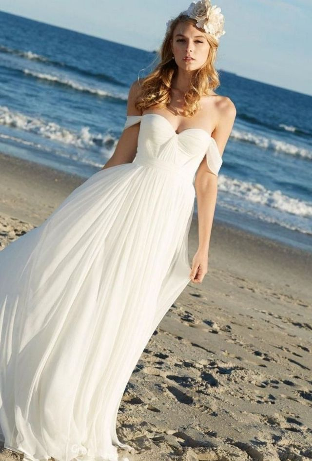 blue beach wedding dresses