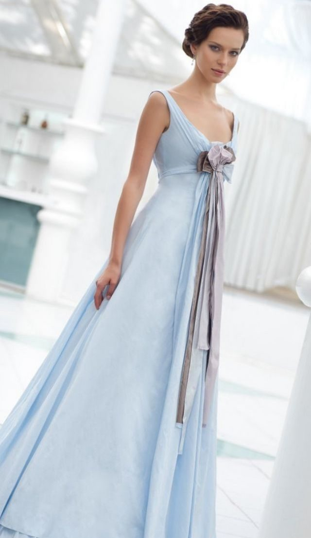 blue bridal dresses