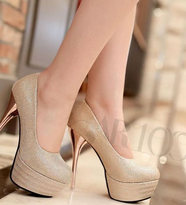 blue or gold platform bridalshoes image