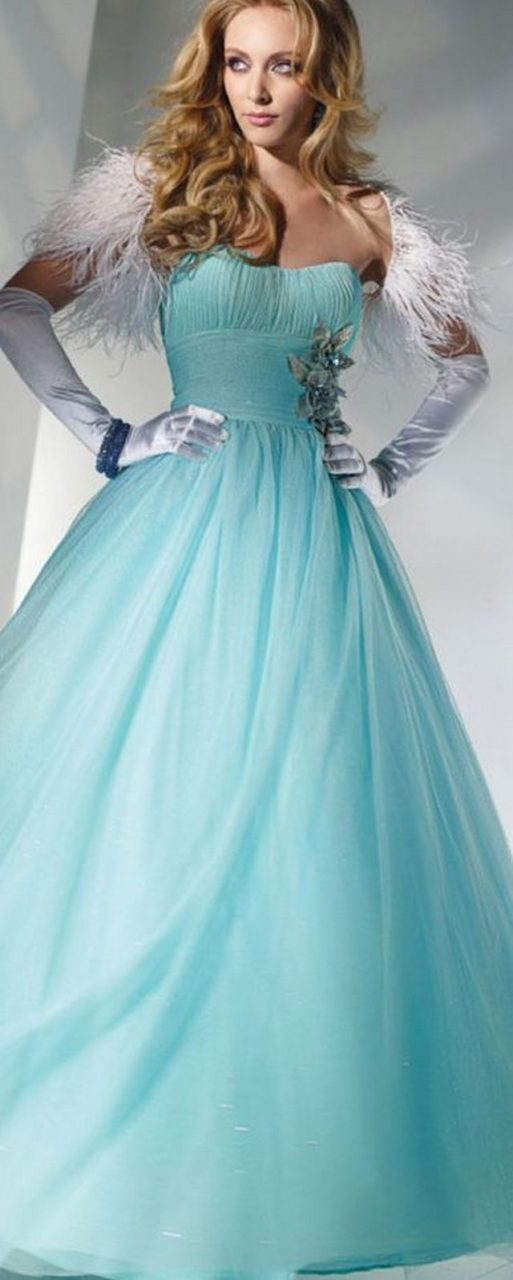 blue wedding dress image