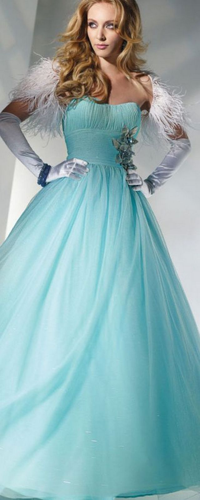 blue wedding dress image