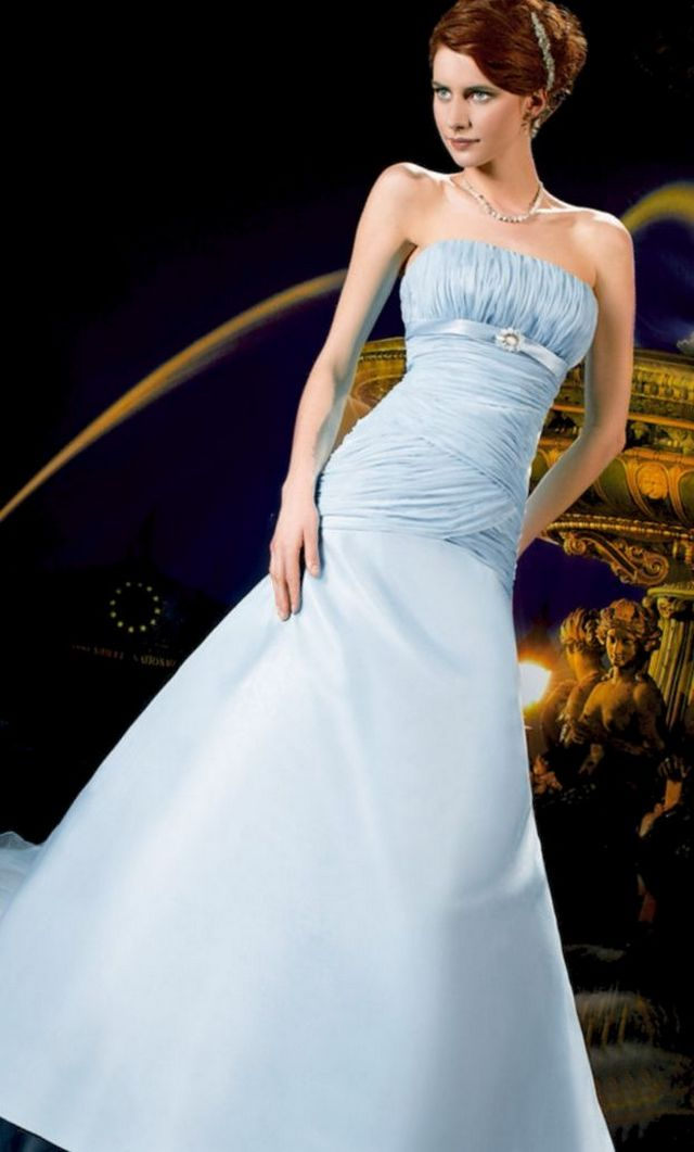 blue wedding dress photo