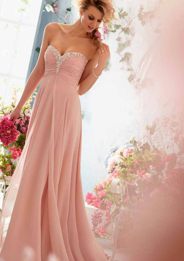 blush pink bridal gown