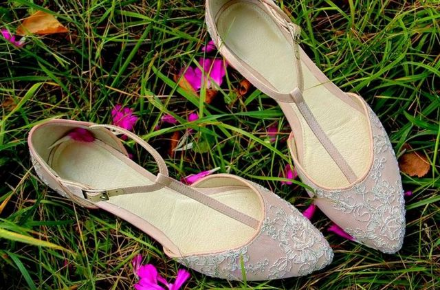 bridal ballet flats wedding