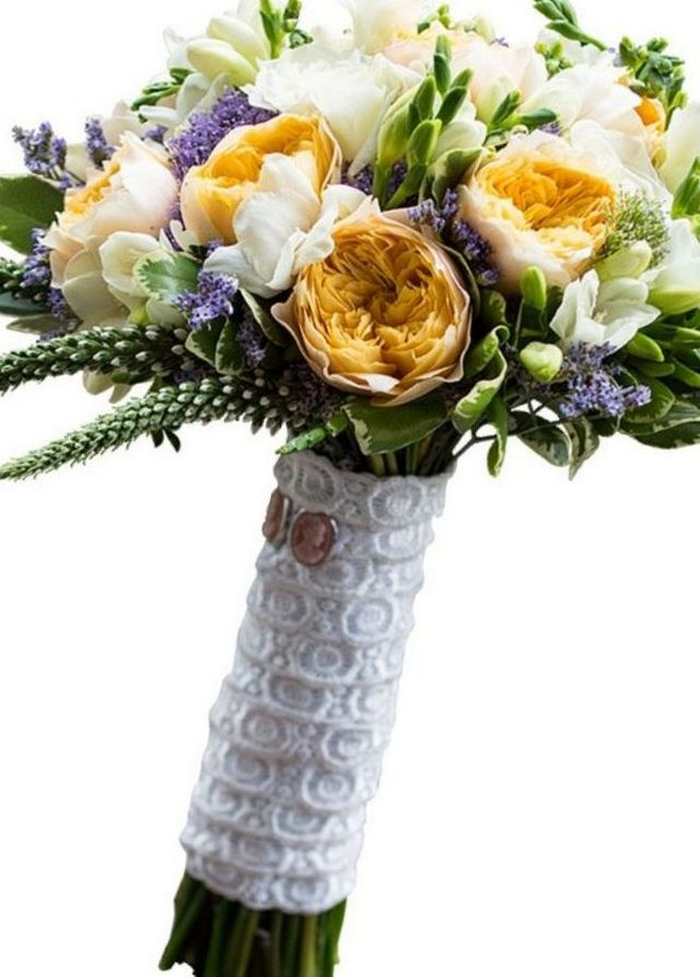 bridal bouquet freesia