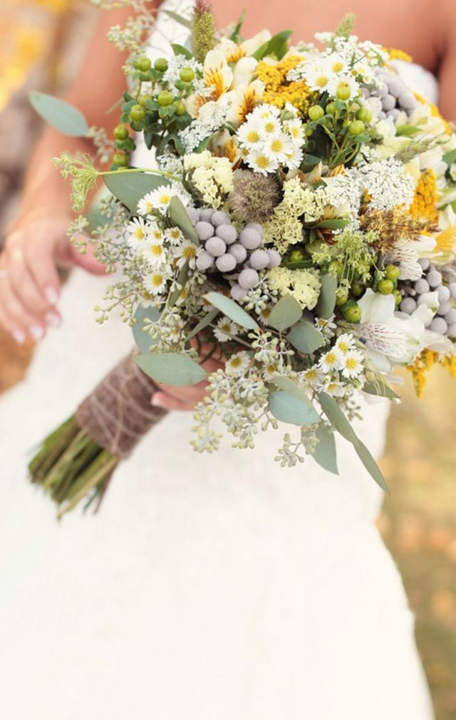 bridal bouquet of wildflowers