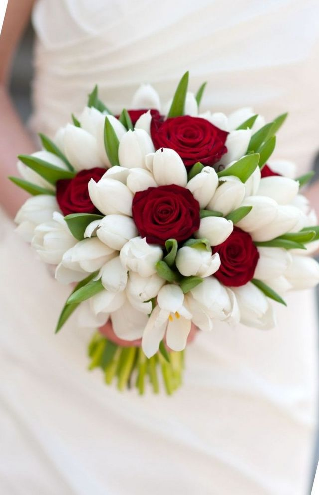 bridal bouquet with tulips