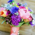 bridal bouquets with wildflowers