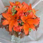 bridal flowers orange calla lilies
