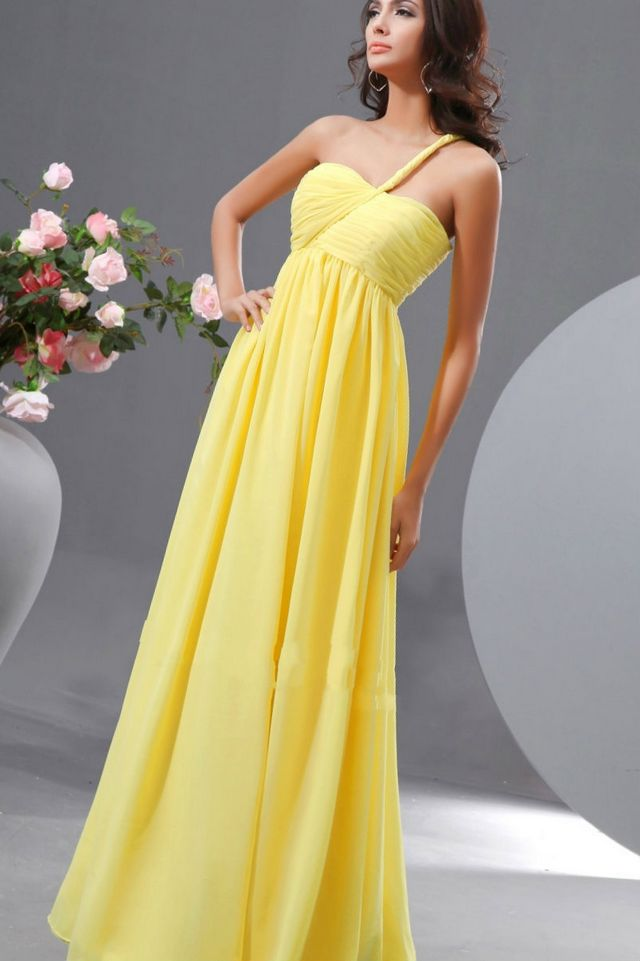 bridal gowns yellow color
