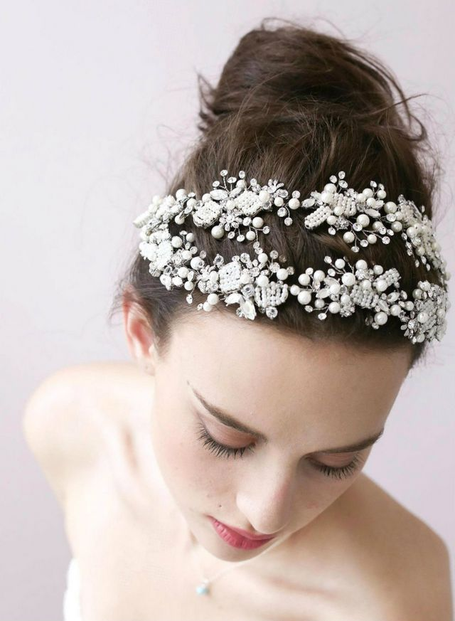bridal hairdos with tiara picture