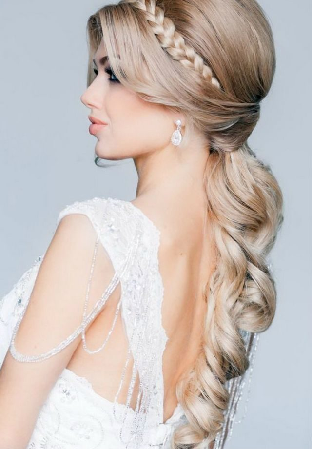 bridal hairstyles for long blond hair photo