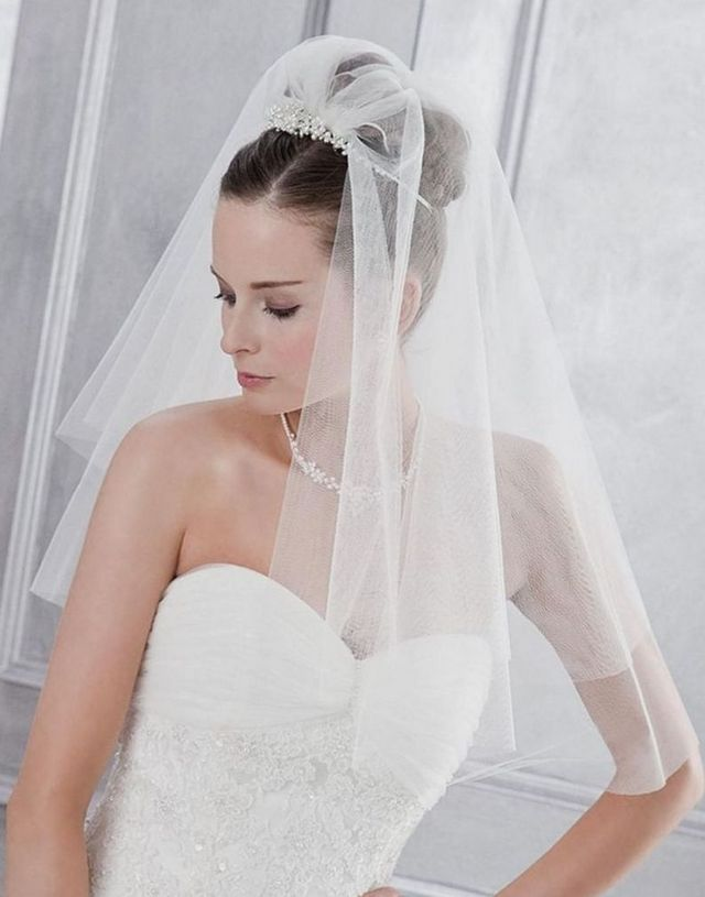 bridal hairstyles for long veil