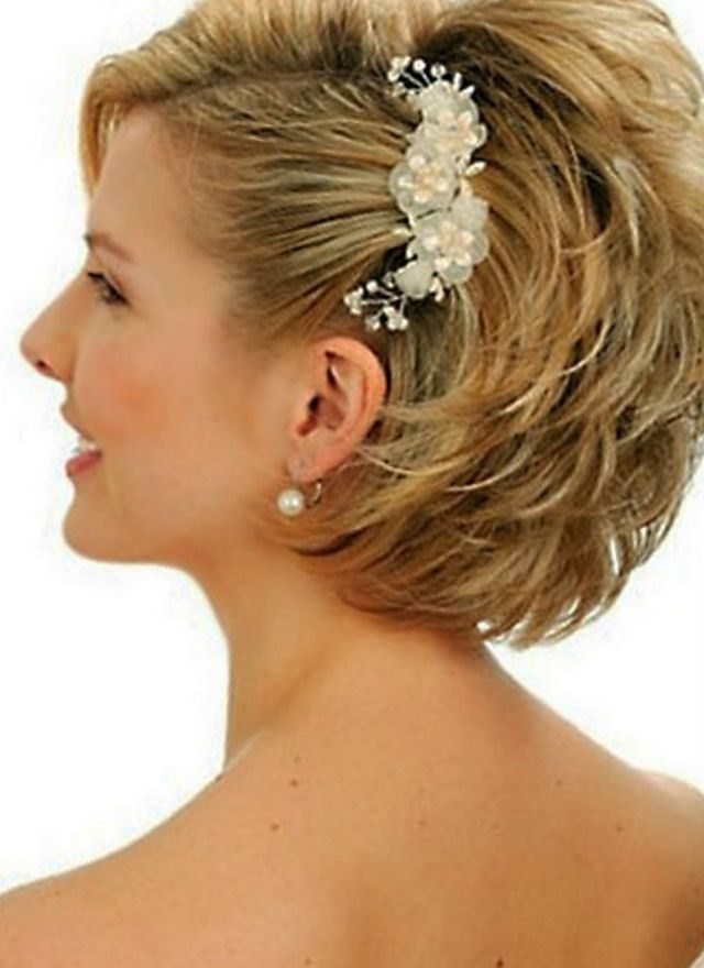bridal hairstyles for short hair without a veil