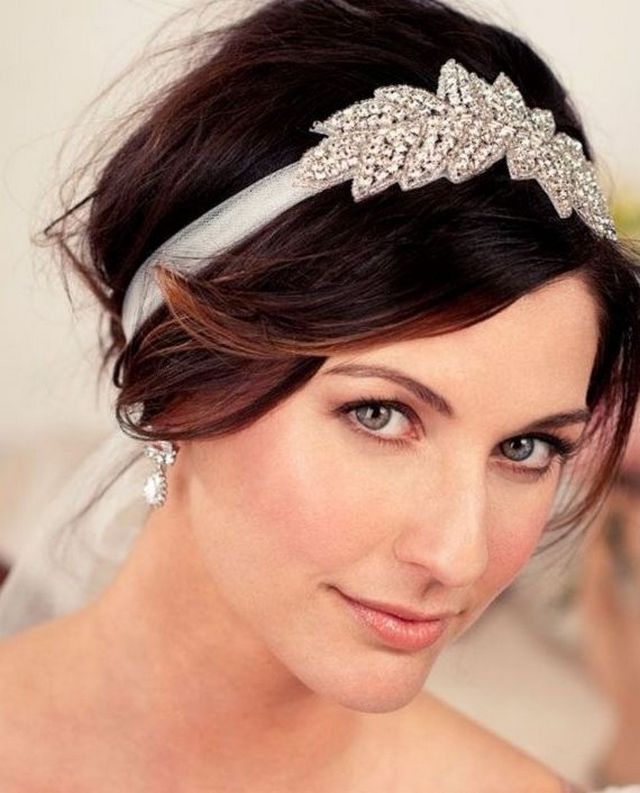 bridal headbands with crystals