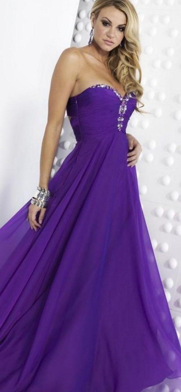bridal purple dresses
