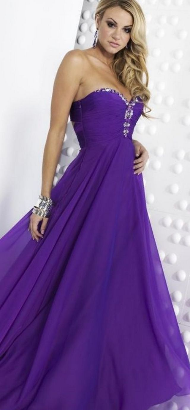 bridal purple dresses