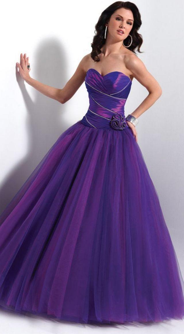 bridal purple gowns