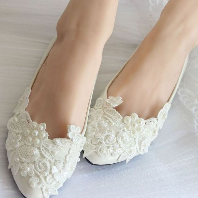 bridal shoes with no heels