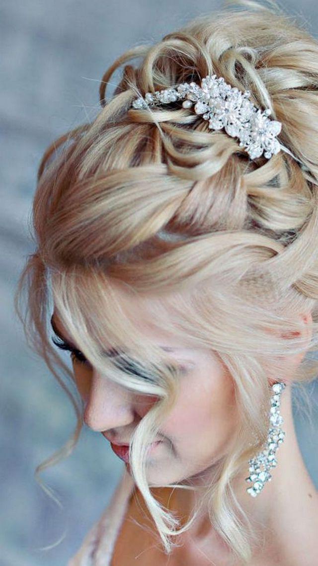 bridal updos diadem