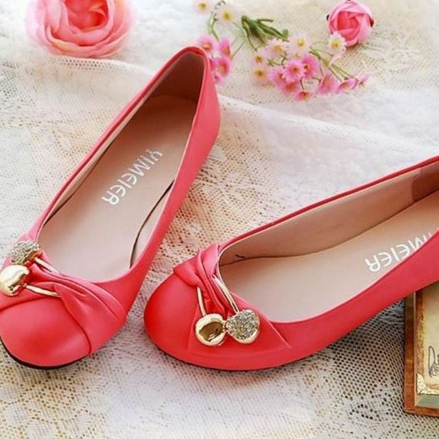 red bridesmaid shoes no heel image
