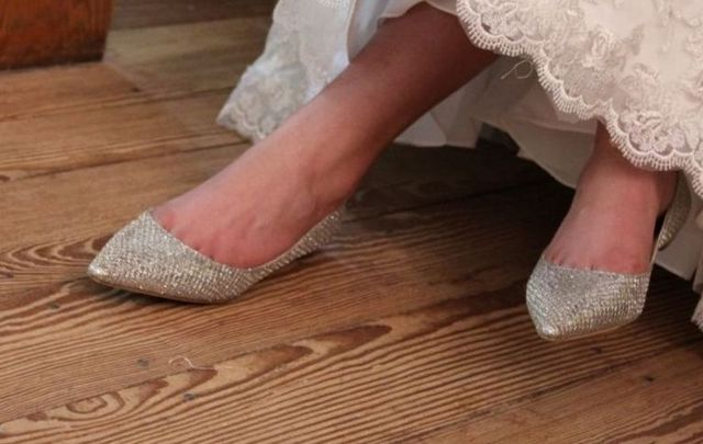 bridesmaid shoes with no heels photo