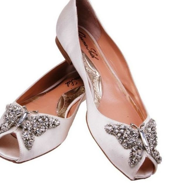 bridesmaid shoes without heel picture
