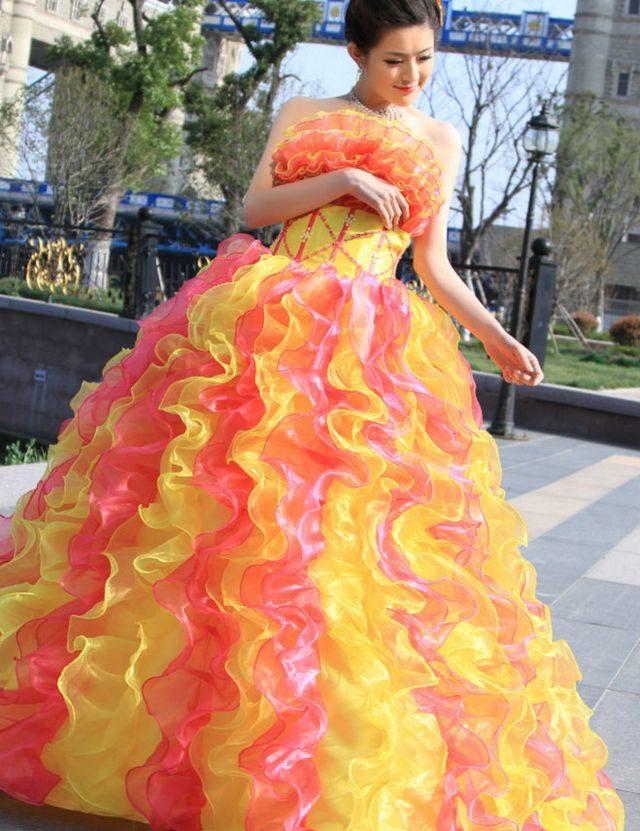 Свадебное Платье Цветное Купить