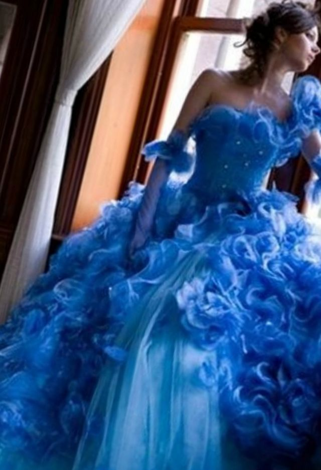 bright wedding dress image