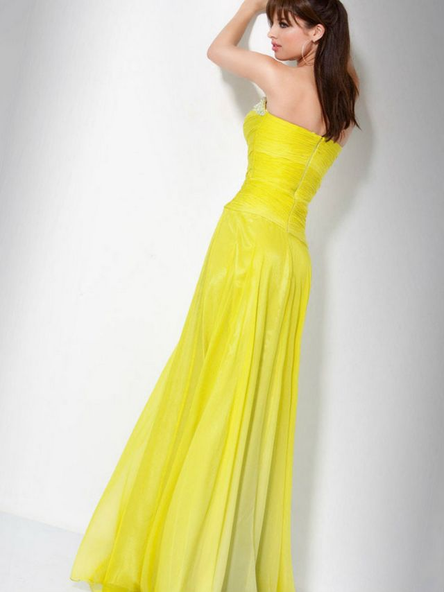 bright yellow wedding dress