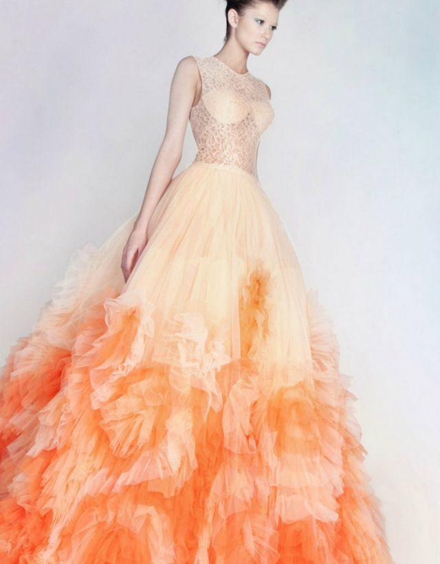 Camo And Orange Wedding Dresses