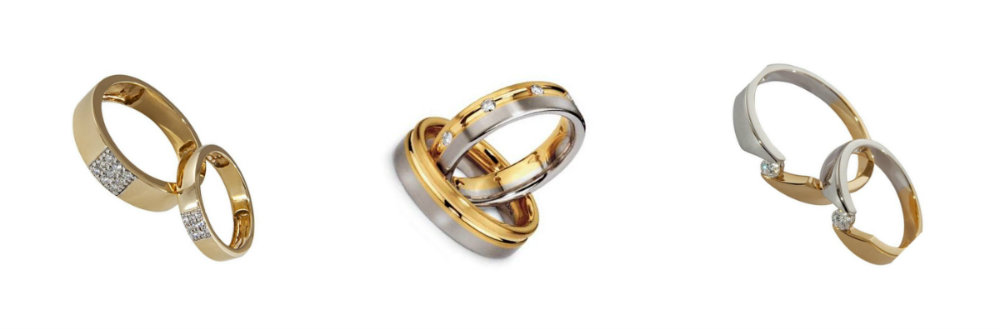 cheap gold wedding rings sets