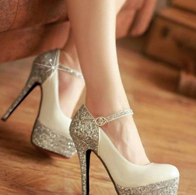 cheap platform bridal shoes