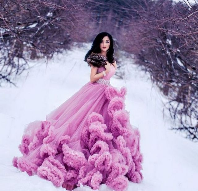 cheap purple winter bridal dresses