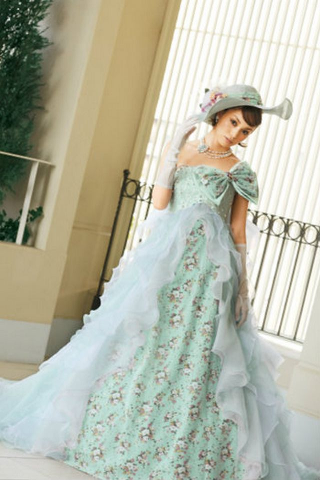 cheep green wedding dress
